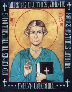 Icon of Evelyn Underhill by Suzanne Schleck